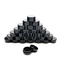 إفراغ مستحضرات التجميل الحاويات مع الأغطية البلاستيكية الجيل الثالث 3G إعادة الملء الصغيرة السفر زجاجة تسرب إثبات الأسود جولة الجرار لوسيون كريم الوحل عينة