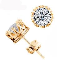 925 silberne Ohrringe Natürlicher Kristall-Verpflichtungs-Hochzeits-Bolzen Mode Kleine Sterling Silber Schmuck für Männer Frauen