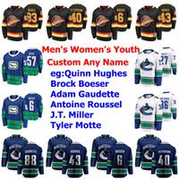 Vancouver Canucks Jerseys Jake Virtanen Jersey Jordie Benn Alexander Edler Myers Fantnberg Ice Hockey Jerseys Mens Personalize cosido