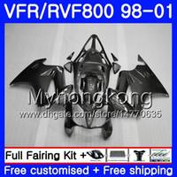 Cuerpo para el interceptor HONDA VFR800R VFR800 1998 1999 2000 2001 259HM.26 VFR 800RR VFR 800 RR VFR800RR Gris plateado caliente 98 99 00 01 Kit de carenado