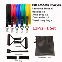 11pcs 1 SET Pull Rope Whlesale Fitness-Übungen Widerstand-Bänder Latex Schläuche Pedal Excerciser Körpertraining Workout Hot Elastic Yoga Band