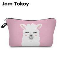 Jom Tokoy Cosmetic Organizer Bag Make Up Printing Llama Cosmetic Bag Fashion Women  Makeup Hzb933