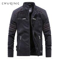 Couro de outono e inverno dos homens CHUQING camurça jaqueta de couro da motocicleta jaqueta Casual masculino