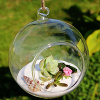 Kugel-Kugel-Form-freie hängende Glasvasen-Blumen-Pflanzen Terrarium Vase Container Micro Landschaft DIY Hochzeit Home Decoration