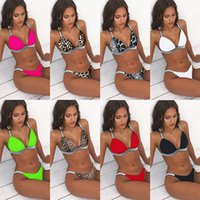 Women Bikini One Set Sexy Push Up Swimsuit Swimwear Beach Sw...