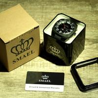2020 бренда SMAEL Мужчины Аналоговые цифровые моды Военные Наручные часы Водонепроницаемые спортивные часы Кварцевый будильник Часы Погружение Relojes WS1008