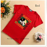 Estate Bambini puro cotone cento e manica corta up Cute T-shirt 031.615