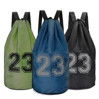 Large basketball bags For balls Soccer Drawstring Mash pack ...