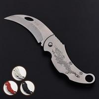 Spedizione gratuita nuova promozione pieghevole coltello da tasca mini portatile in acciaio inox coltello da campeggio coltello catena chiave EDC coltelli regalo economici