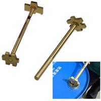 200L Ölbarrel Abdeckung Schlüssel Opener Kupferlegierung Oil Barrel Plug Spanner Single Doppelkopftrommel Zange Öffnungswerkzeug