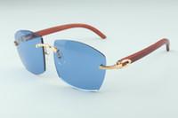 Hot novos óculos A4189706 templos originais naturais puros de madeira, fábrica de qualidade superior direto óculos de moda unissex