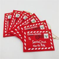 2 цвета Санта-Клаус красный / зеленый Рождественский конверт Подвеска дерево аксессуары Рождество Малый Подарочные конфеты сумки Главная партия Xmas Декор