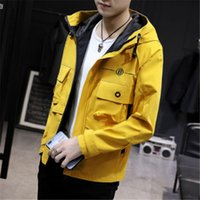 2019 New Spring Summer Mens Fashion Outerwear Windbreaker Me...