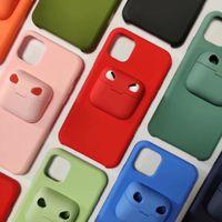caja del teléfono Airpods Pro Funda de silicona para auriculares paquete cubierta del teléfono Con menor para Iphone 11 Pro Max Plus XS MAX XR 8 7 6 Plus