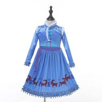 Children Snow Queen Cosplay Fancy Princess Dress for Girl ta...