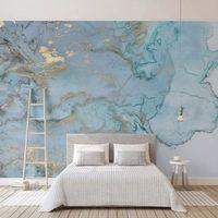 Özel Fotoğraf Duvar 3D Stereo Mavi Doku Mermer Duvar Kağıdı Resimleri Salon Televizyon Kanepe Yatak Odası Çalışması Dekor