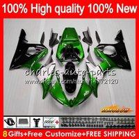 Bodys for Yamaha YZF R6 S YZF600 YZF-R6S YZFR6S Green Black 06-09 60HC.60 YZF-600 YZF R6S 06 07 08 09 2006 2007 2008 2009 Fairing + 8Gifts
