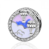 New Authentic 925 Sterling Silver Bead Hot Air Balloon Trip ...