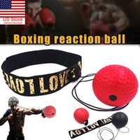 Schwarz / Rot Bouncy Ball-Kampf-Ball Boxing Equipment mit Kopf-Band für Reflex Speed ​​Training Box Schlags Muay Thai Übung
