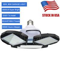 60W 80W светодиодные лампы деформируемого Garage свет E27 мозоли СИД Лампочка Radar Домашнее освещение высокой интенсивности парковки Склад Промышленные лампы Свет