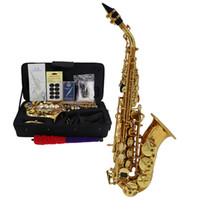 Soprano Saxophone B-flat gold colour JSS-800 Jody Blues Brand آلات موسيقية عالية الجودة