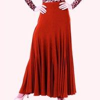 Sahne Giyim Siyah / Kırmızı / Mavi / Mor 4 Renkler Flamenko Etekler Balo Salonu Dans Kadın Standart Waltz Tango Etek
