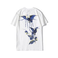 Mens Stylist T Shirt Hip Hop Bird Printing Stylist T Shirt S...
