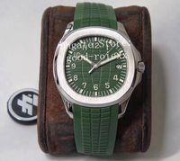 Erkekler için 4 Renk Saatler 40mm İzle Otomatik CAL.324 SC Yeşil Gri Mavi Dial 5167 ETA Kauçuk Kayış ZF Fabrika erkek Saatı