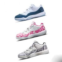 2019 New 11 Marineblau Rosa Snakeskin Basketball-Turnschuh-Bred Concord Georgetown Space Jam Gg 11s Chaussures De Basket