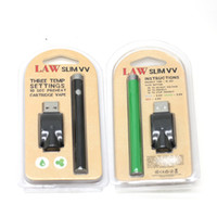 New Law Slim VV Preheat Battery Full 280mAh Vapor Pen Voltag...