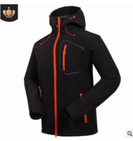 Vente de camping en plein air pour hommes Loisirs Sports Charge Coat Soft Shell Manteau Veste pare-brise Alpinisme Vêtements