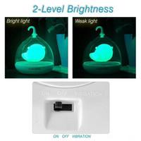 El Tasarım Şarj Edilebilir Dokunmatik Sensör Titreşim 4 renkler led Birdcage Lamba Çocuklar için LED Kuş Gece Işıkları Dokunmatik Dimmer Yatak Odası Işıkları