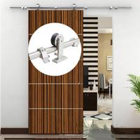 6,6 ft rostfritt stål interiör ladugård trä skjutdörrar hårdvara kit