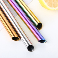 Smooth and pointed end 12mm bubble tea drinking straw reusab...