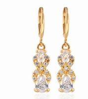 venta al por mayor precio bajo 2 par / lote venta caliente hermosa dimaond cristal 925 bodas de plata de señora 6.6tytvt