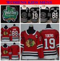ffb347ae3 2019 Winter Classic Womens Chicago Blackhawks Hockey Jerseys Ladies 88  Patrick Kane 19 Jonathan Toews Stitched Jersey Mens Womens Kids Shirt