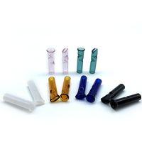 6 milímetros 8 milímetros Mini Filtro de Vidro Pontas com filtro Flat Round Mouth For Tabaco seco Herb RAW Papeles de vidro Dicas Dab plataformas petrolíferas