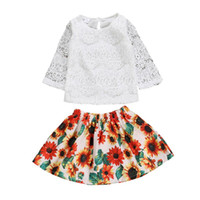 2019 Sunflowers Children' s Fashion outfits Toddler Baby...