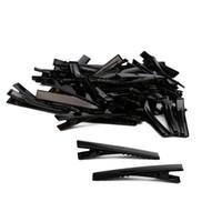 بيع أسود شعر مشبك صغير متوسط لوط الفضة التمساح التمساح القوس فارغة الشعر كليب 150PCS