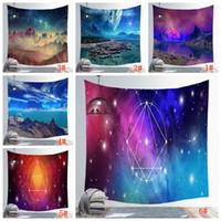 150 * 130CM مذهلة ليلة النجوم نجوم السماء نسيج 3D مطبوعة تعليق على الحائط صورة البوهيمي شاطئ منشفة الجدول القماش البطانيات DBC BH3036