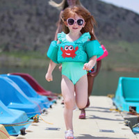 La vita dei bambini giacca da 20-50lbs, compatibile con i bambini, il fumetto nuotata galleggiabilità giubbotto braccio cerchio maniche dello Swimwear di nuotata ring per ragazzi e ragazze