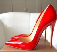 2020Free Shipping So Kate Styles 8cm 10cm 12cm High Heels Shoes Red Bottom Nude Color Genuine Leather Point Toe Pumps Rubber Wedding Shoes