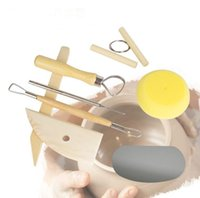 8 teile / satz Wiederverwendbare Diy Keramik Tool Kit Home Handarbeit Ton Skulptur Keramik Form Zeichnung Werkzeuge SN2560
