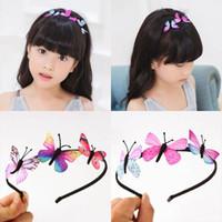 الفتيات الجنية الأميرة hairbands الأطفال اليدوية الأطفال فراشة اكسسوارات للشعر الفتيات الهدايا الملونة مصمم عقال