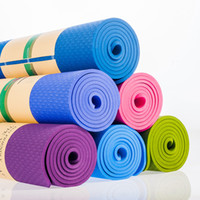 5 Colors TPE Yoga Mat for Beginner 8MM Fitness Pad Fitness S...