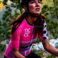 ملابس Ciclismo 2020 Ticcc النساء ركوب الدراجات جيرسي الوردي الصيف MTB دراجة الطريق مجلس قيادة الثورة الدراجات الملابس تنفس دراجة ركوب الخيل ملابس
