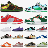 2020 baskets nike sb dunk low white off Designer Skateboard Sneakers Safari Chunky Dunky Femmes Hommes Blanc des Chaussures Casual travis mode Formateurs