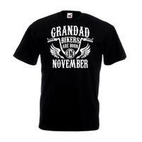 17d7a0094ac New Arrival. Grandad Bikers Are Born In November T Shirt Harley Biker  Birthday Davidson GiftFunny free shipping Unisex Casual Tshirt top