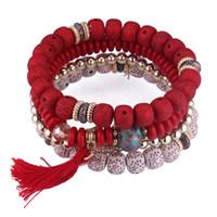 Nieuwe Designer Vintage Tassel Armbanden Multicolor Handgemaakte Beaded Armbanden Multi-Layer Etnische Bodhi Armbanden Mode-sieraden voor Dames Retail