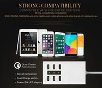 Masaüstü USB Şarj HUB 6 Port ABD AB İNGILTERE ABD Tak Duvar Soket Dock Cep Telefonu Tablet için Hızlı Şarj Uzatma Güç Adaptörü